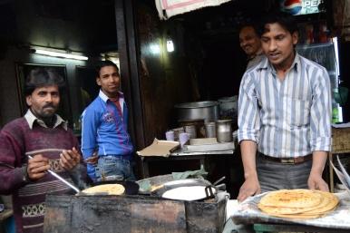 Comida callejera en Viejo Delhi