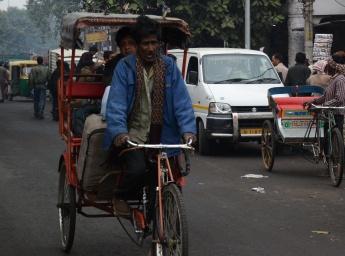 Tuk Tuk en Viejo Delhi